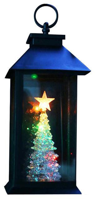 Christmas Tree Lantern Stake With Color Changing Led Lights.
