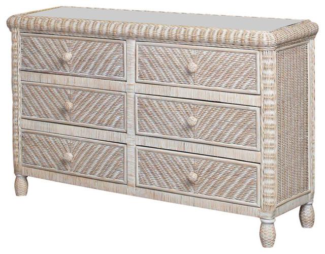 Helen Wooden Dresser, White Wash.