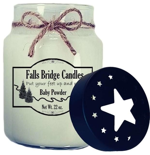 Baby Powder Scented Jar Candle, 26 oz, Star Lid
