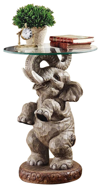 Good Fortune Elephant Table Eclectic Side Tables And