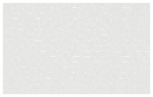 Studio Conran Hartland White Pressed Mosaic Tiles, 248x398 mm, Set of 20 m²