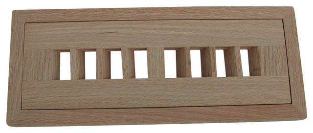 "Flush Register 4""x10"" Max Output, Bi-Directional Air, Quartered White Oak."
