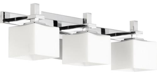 Square Shades Bathroom Light Chrome