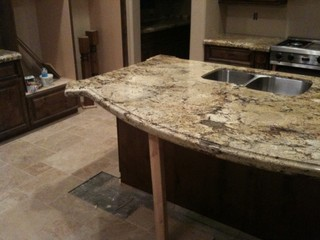 Support for counter with 23 39 overhang for Granite countertop overhang