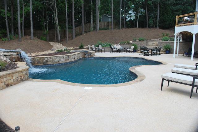 Hilltop Custom Pool In Acwort Ga Modern Atlanta By