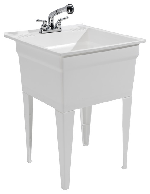 Heavy Duty Utility Sink : Heavy Duty Sink -Fully Loaded Sink Kit - Modern - Utility Sinks ...