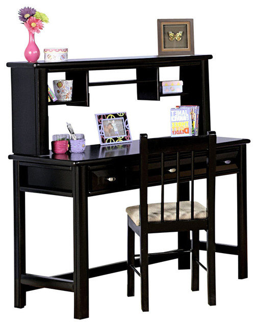 student desk with hutch contemporary kids desks and desk sets by shopladder. Black Bedroom Furniture Sets. Home Design Ideas