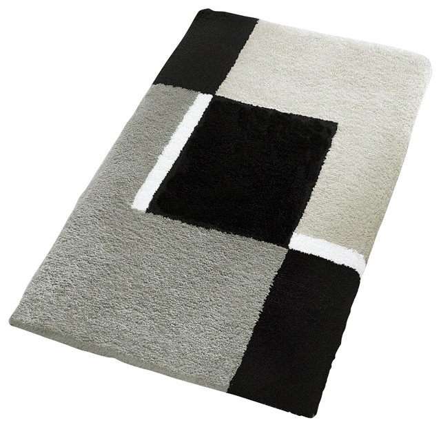 Black Bathroom Rugs And Mats. Oversized Bath Rug Platinum