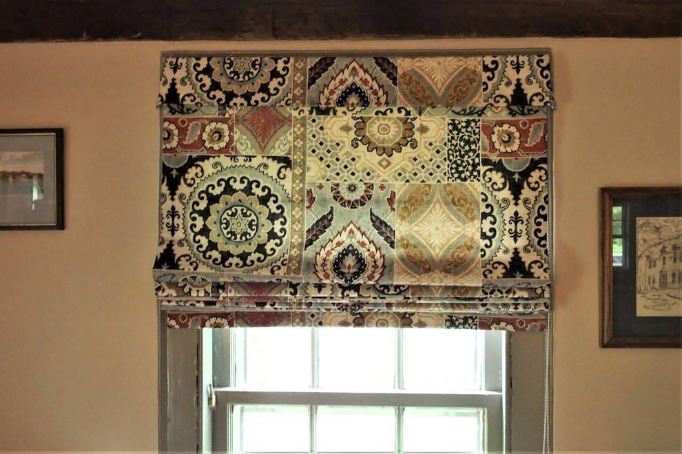 Roman Shades for a VIntage Home in Connecticut, over 200 years old