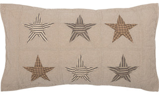Farmhouse Americana Bedding Sawyer Mill Star Independence Day/4th of July Sham