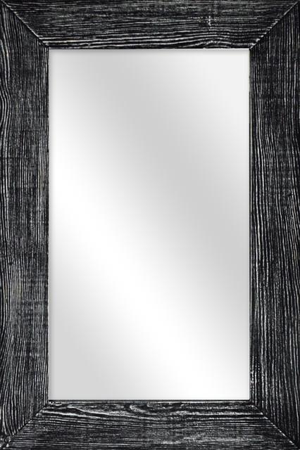 Gray Wooden Mirror.