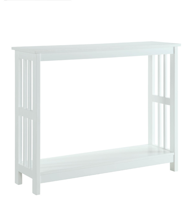 Mission Console Table, White.