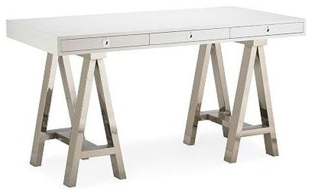 Williams Sonoma Home Mason White Wood Gl Desk 1 850 Est