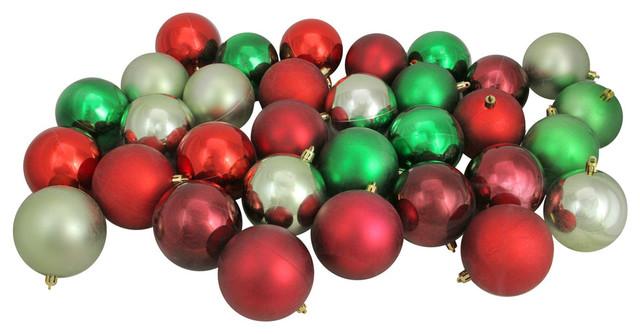 Red Christmas Ball Ornaments.32ct Red Xmas Green Celadon Burgundy Shatterproof Christmas Ball Ornaments 3 25
