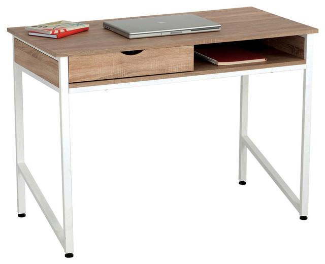 Compact Desk, White/beech.