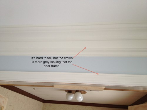 Crown Moulding and door frame paint issue