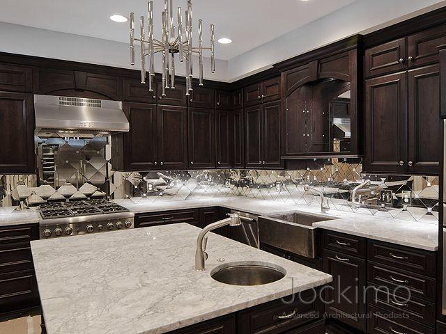 Incroyable Private Residence Antique Mirror Backsplash Tiles ...