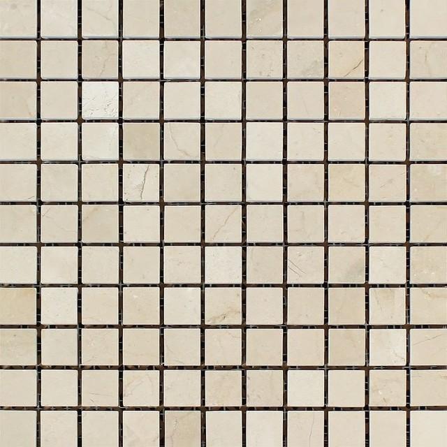 Crema marfil barcelona mosaic 1x1 polished mosaic tiles for Bar marfil barcelona