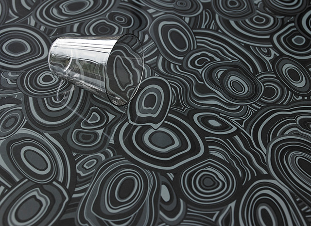 Lovely 9496 Charcoal Malachite: Formica® Laminate Jonathan Adler Collection  Eclectic Kitchen