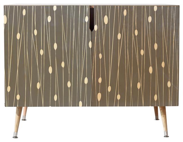 Deny Designs Heather Dutton Gray Entangled Credenza, Multi, 38 X 30 X 20, Woo.