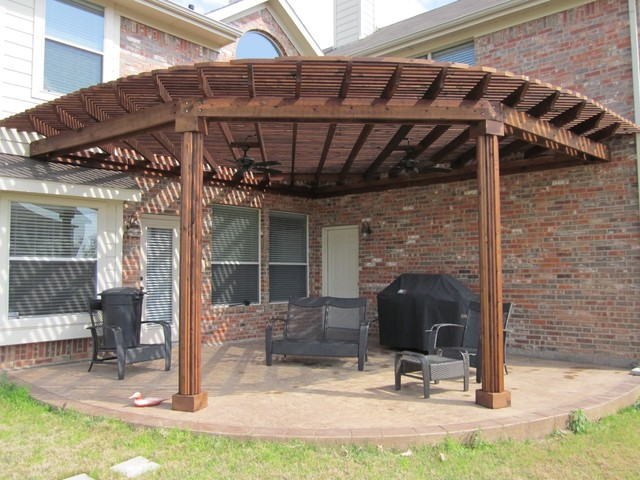 Fan Shape Patio Cover Dallas By Texas Best Fence