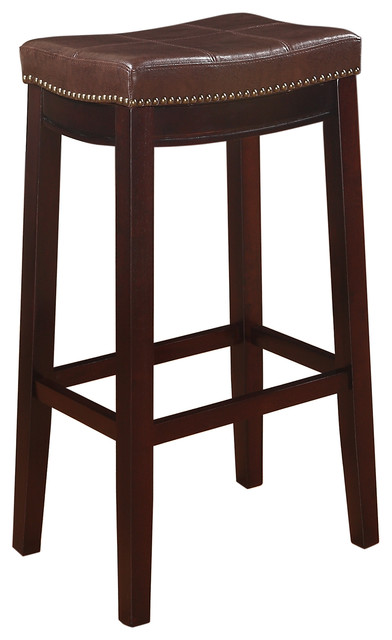 """Claridge Patches Counter Stool, Brown, 32"""""""