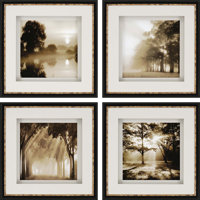 Reflections sepia prints 4 piece set 20x20