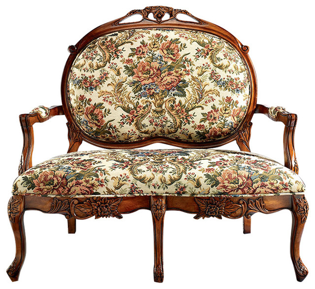 Calcot Manor Medallion Settee. -2