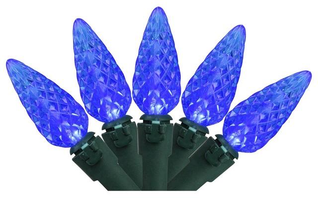 Set Of 70 Blue Led C6 Christmas Lights.