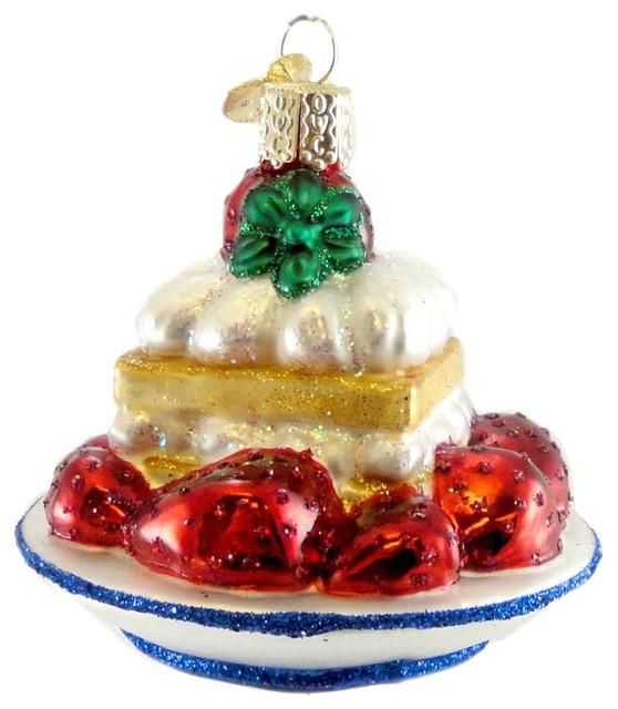 Glass Chrimas Ornament Strawberry