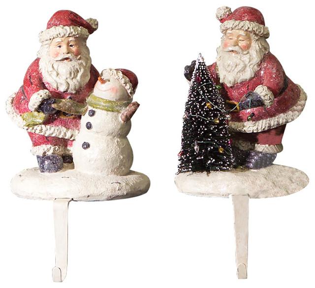 Santa stocking holders set of christmas stockings and