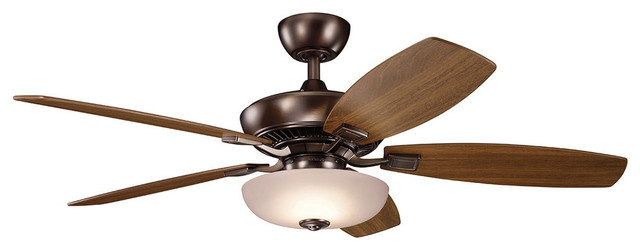 Indoor Ceiling Fan 1-Light With Oil Brushed Bronze Finish Led, 52, 17w.
