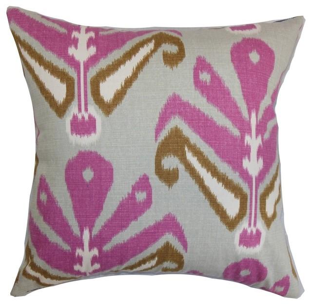 The Pillow Collection Sakon Ikat Throw Pillow Cover
