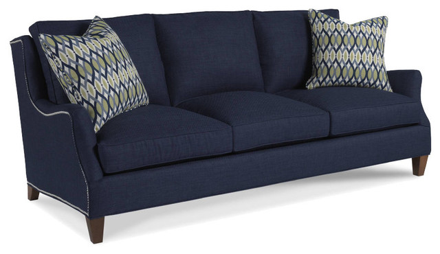 Tansy 3 Over 3 Sofa, Aegean, Vintage.