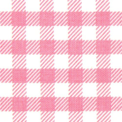 pink checkered Michael Miller fabric Gingham pattern