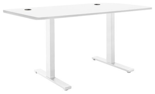 Vifah Smartdesk Adjustable Standing Desk, White.