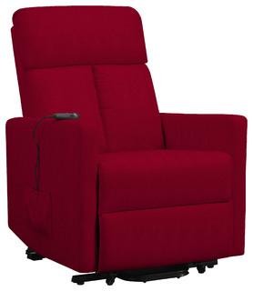 Maxfield Power Lift Recliner, Red