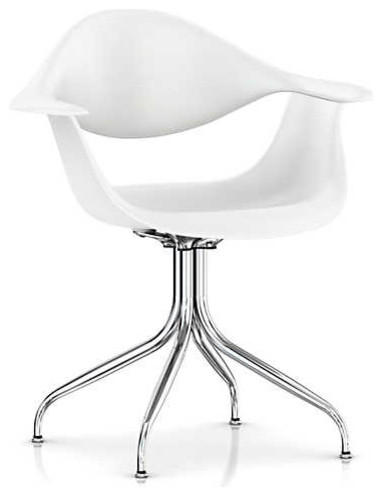 Remarkable Nelson Swag Leg Armchair By Herman Miller White Trivalent Chrome Ocoug Best Dining Table And Chair Ideas Images Ocougorg