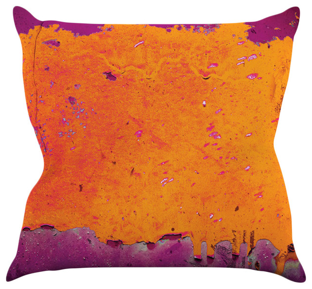 Iris Lehnhardt Quot Orange Purple Quot Paint Throw Pillow