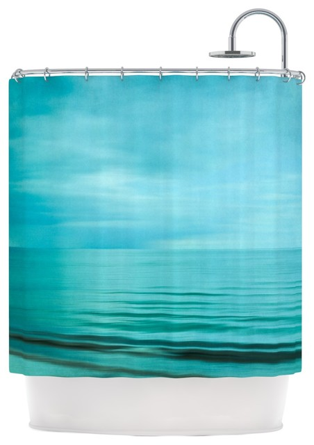 Iris Lehnhardt Quot Calm Sea Quot Blue Teal Shower Curtain Beach