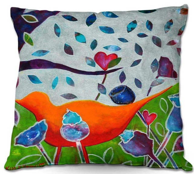DiaNoche Outdoor Pillows In Love - Modern - Outdoor Cushions And Pillows - by DiaNoche Designs