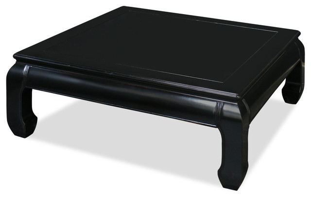 black square coffee table Rosewood Ming Style Square Coffee Table   Asian   Coffee Tables  black square coffee table