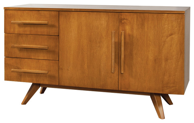 buffet 57 2 door 3 drawer with splayed foot wood aurora traditional