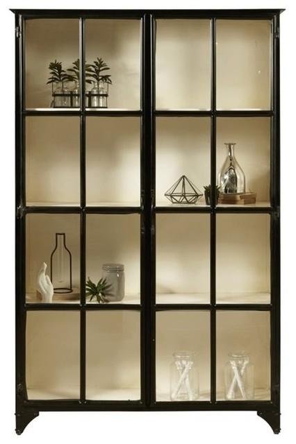 Pulaski Maura Iron Curio Cabinet, Black - Industrial - China ...