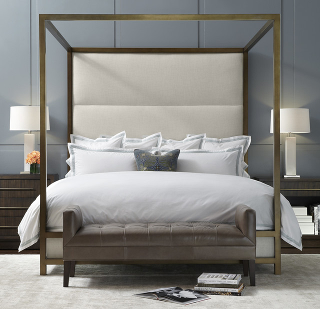 Four Poster Bed Uk Part - 28: Banks Four-Poster Bed Modern