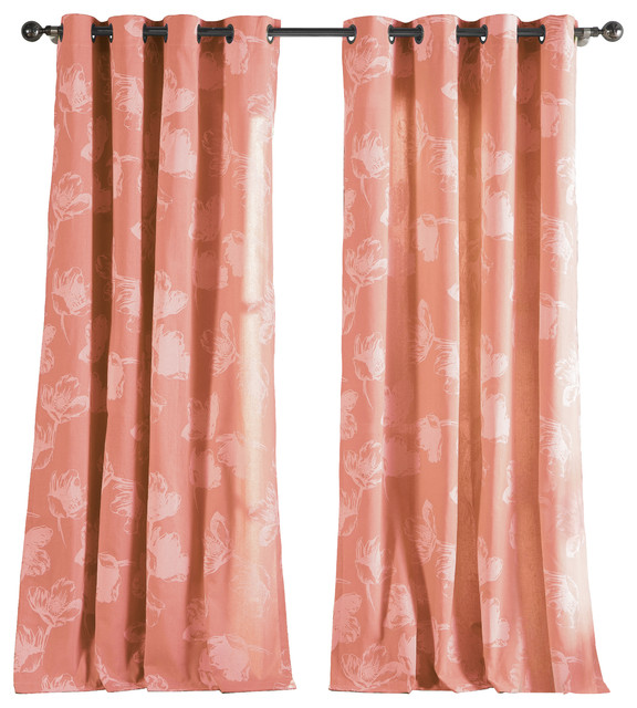 Image result for coral brocade curtains