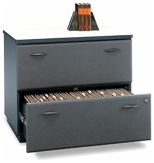 Slate Lateral File Storage Unit, Series A traditional-filing-cabinets