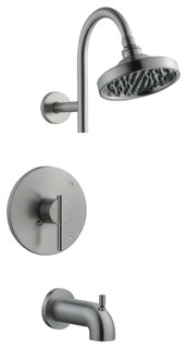 Design House 525691 Single Handle Tub And Shower Pressure Balanced with Single