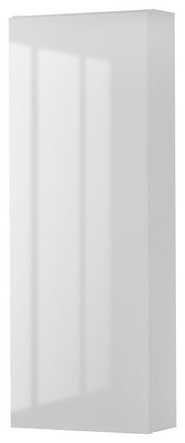 Sangallo Medicine Cabinet, High-Gloss White.