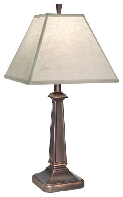 Stiffel Table Lamp, Bronze Craftsman Table Lamps
